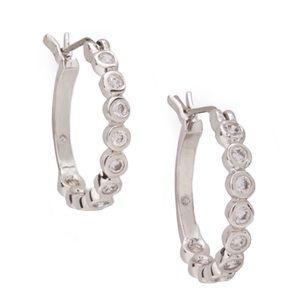 kate spade Jewelry - Kate Spade Full Circle Crystal Hoop Earrings